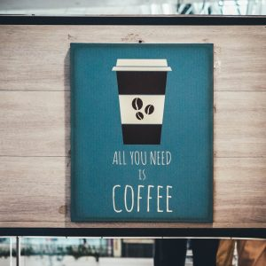 print coffee place poster